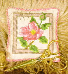 Wild Rose Pincushion Kit