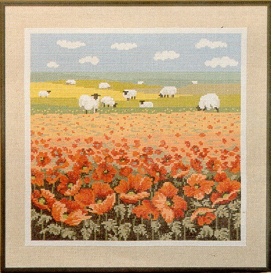 Country Poppies Complete Kit - Linen