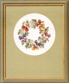 Delicate Pansies Chart Pack
