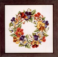 Pansy Wreath Chart Pack